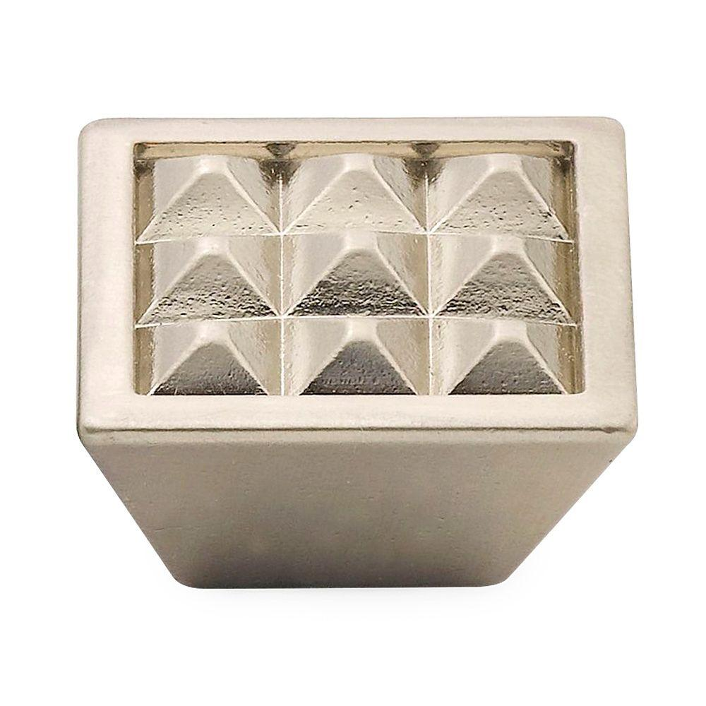 Knobware 1.5 in. Satin Nickel Pyramids Knob-C3566/1-1-2in/SN - The Home Depot