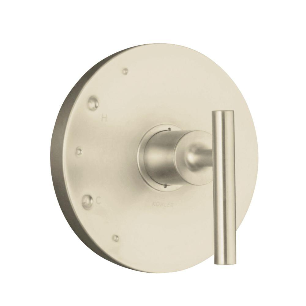 KOHLER Purist 1-Handle Rite-Temp Valve Trim Kit in Vibrant Brushed Nickel (Valve Not Included)