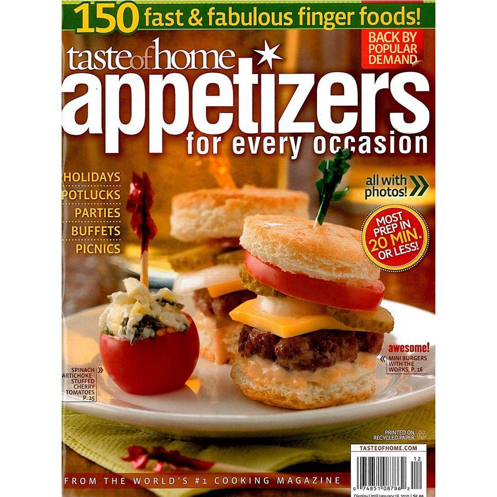 Taste of Home Appetizers for Every Occasion Magazine