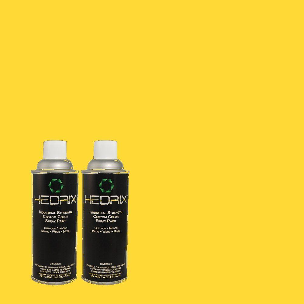 Spray Paint: Hedrix Paint 11 oz. Match of 380B-6 Lemon Tart Semi-Gloss Custom Spray Paint (2-Pack), Color Match Of 380b-6 Lemon Tart. Available In Multiple Sheens. SG02-380B-6