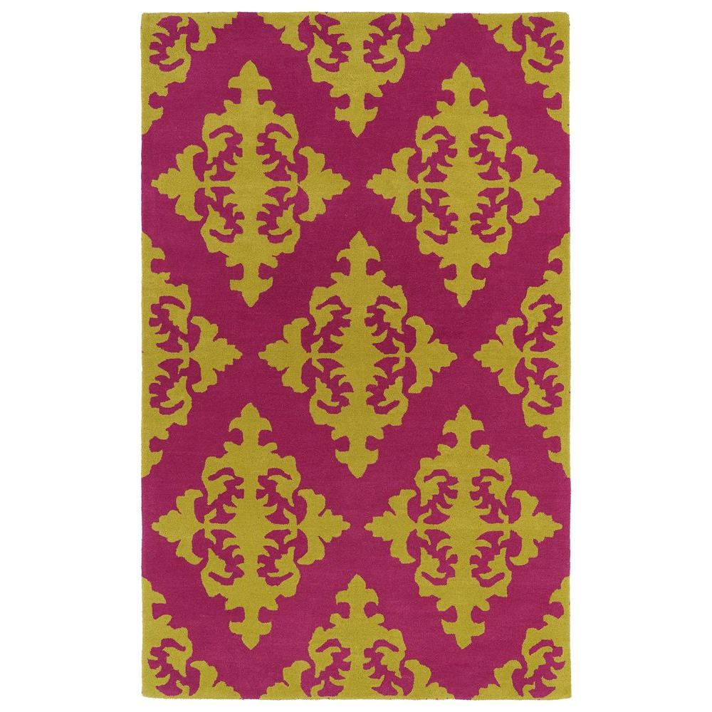 Evolution Pink 3 ft. x 5 ft. Area Rug