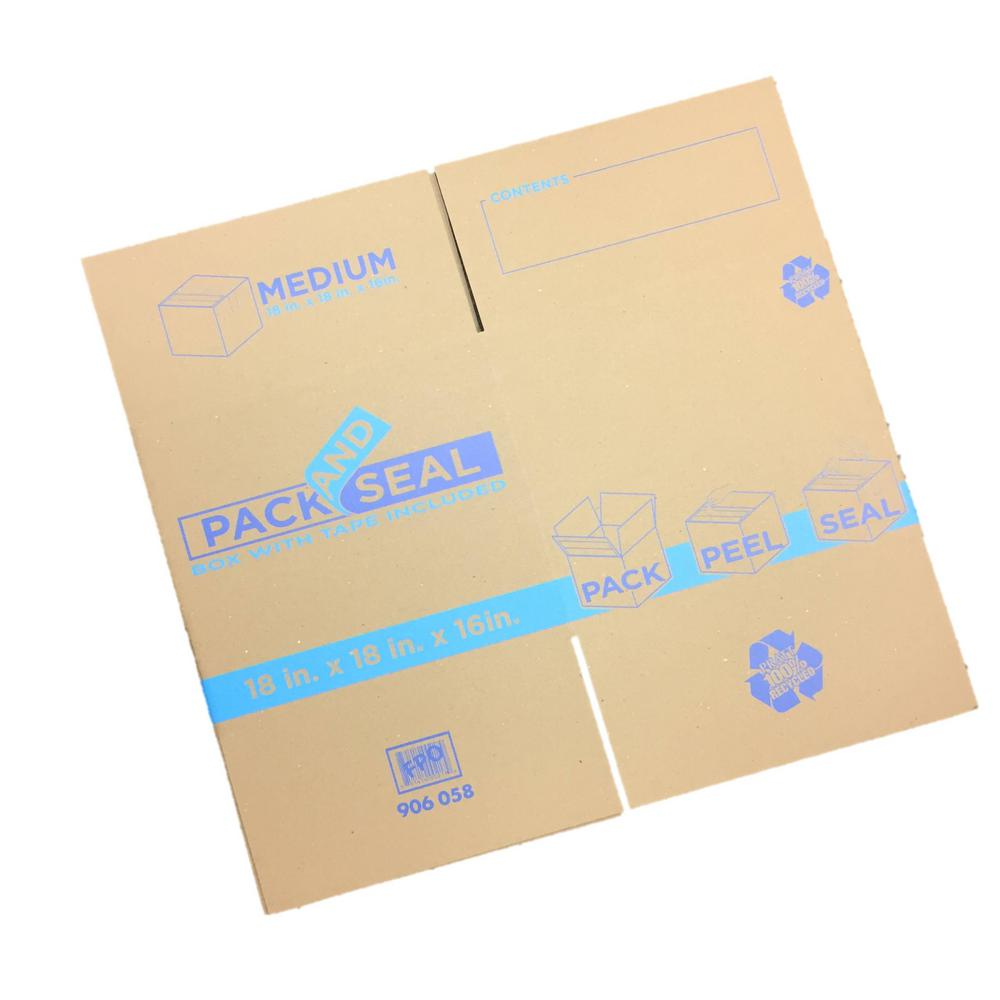 Pratt Retail Specialties 18 in  L x 18 in  W x 16 in  D Pack and Seal  Medium Moving Box