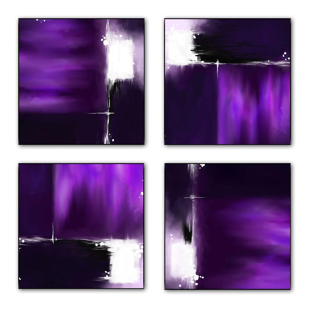 PTM Images 12 in. x 12 in. The Color Purple Laminated Lacquer Box Wall Art (Set of 4)