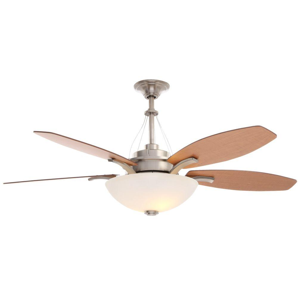 Hampton Bay Brookedale 60 in. Brushed Nickel Ceiling Fan