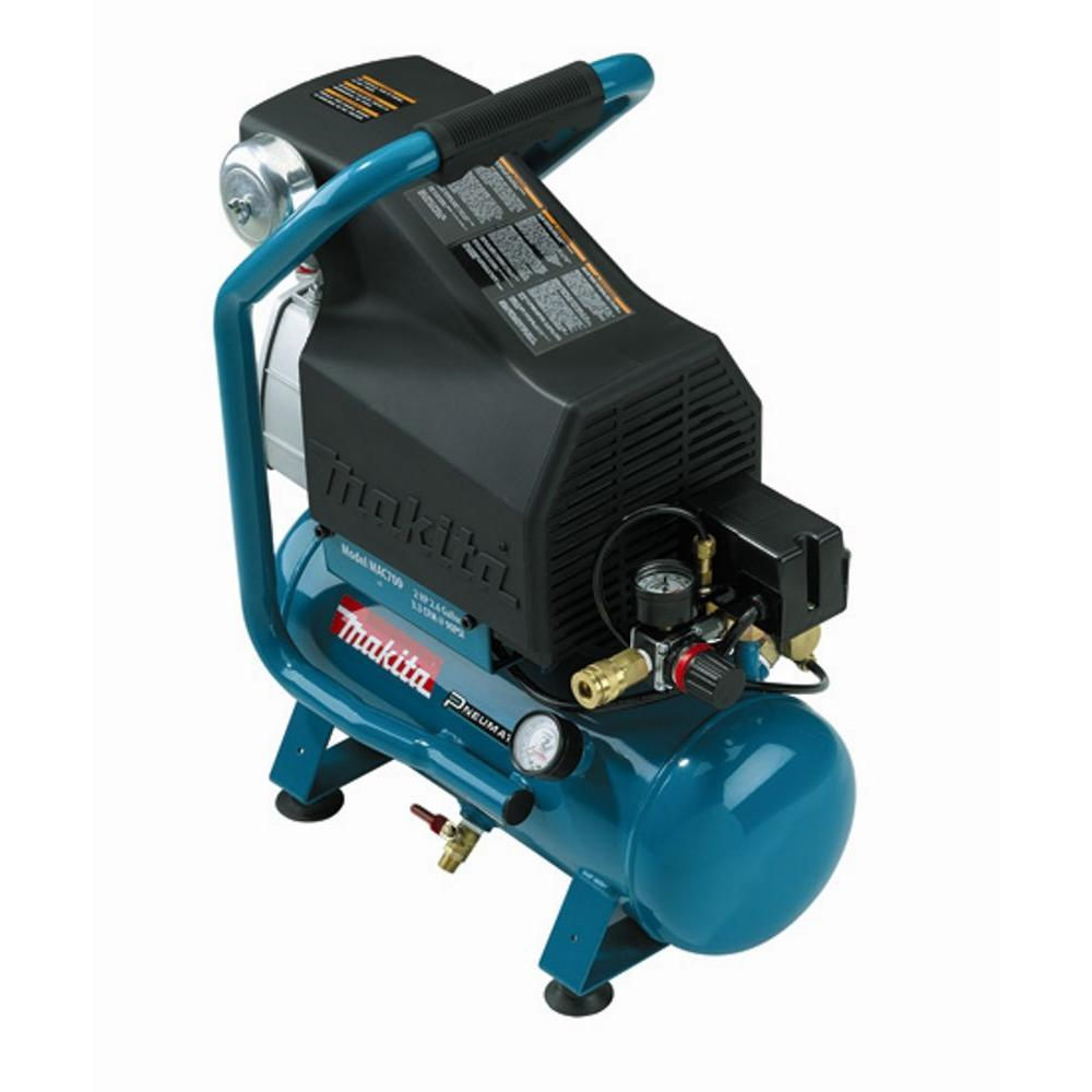 Makita 2.6 Gal. 2 HP Portable Electrical Hot Dog Air Compressor