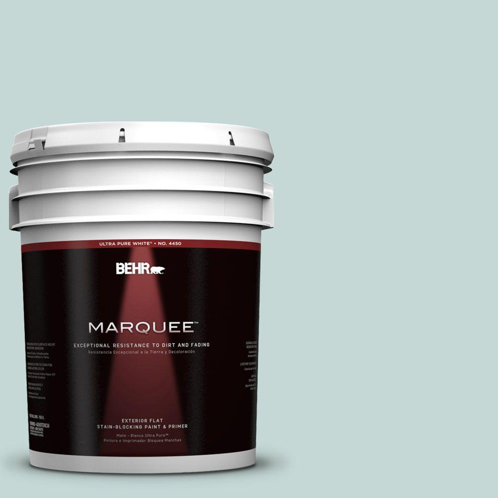 BEHR MARQUEE 5-gal. #480E-2 Tide Pools Flat Exterior Paint