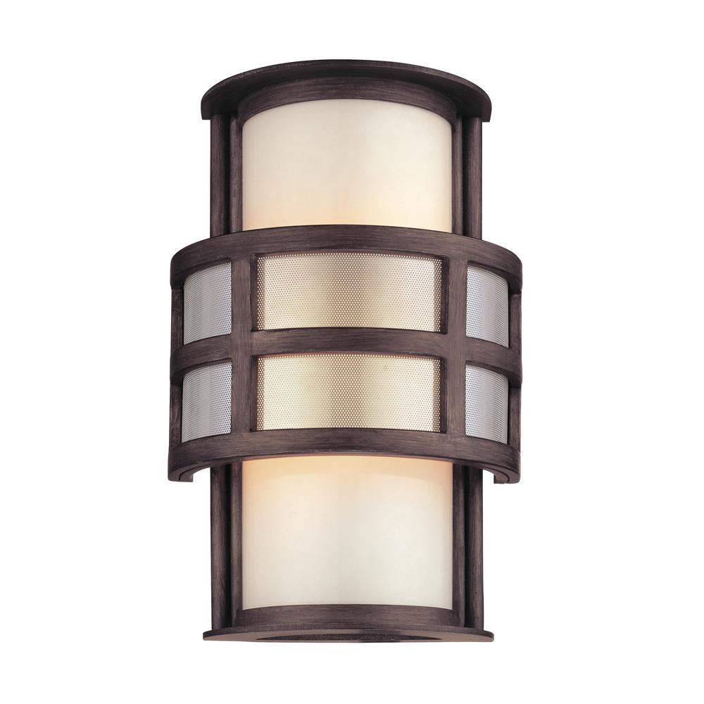 Discus Graphite Outdoor Wall Mount Sconce