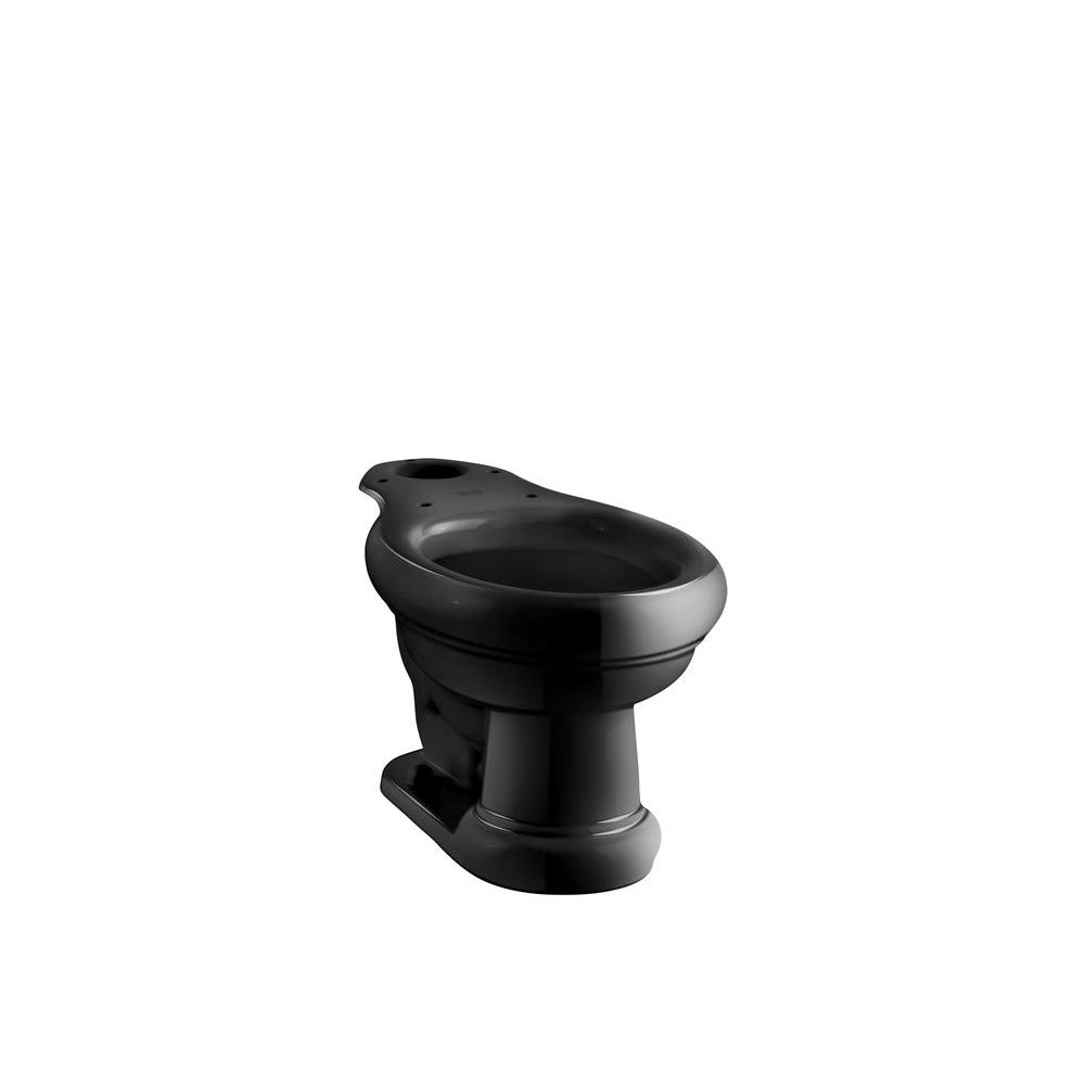 KOHLER Revival Elongated Toilet Bowl Only in Black-DISCONTINUED