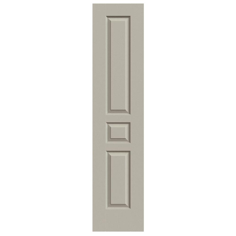 18 in. x 80 in. Molded Textured 3-Panel Square Desert Sand Hollow Core Composite Interior Door Slab