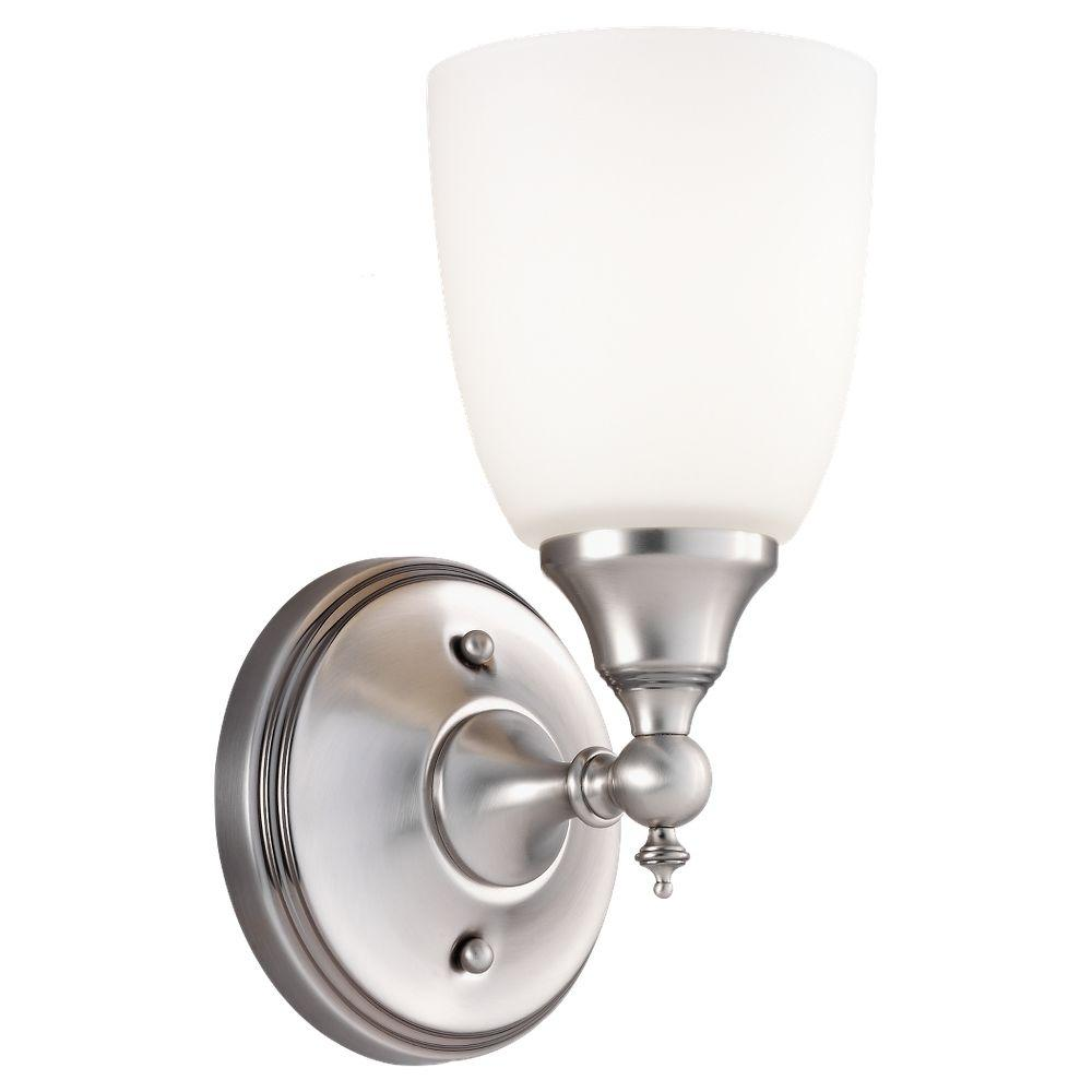 Sea Gull Lighting Finitude 1-Light Antique Brushed Nickel Wall Sconce
