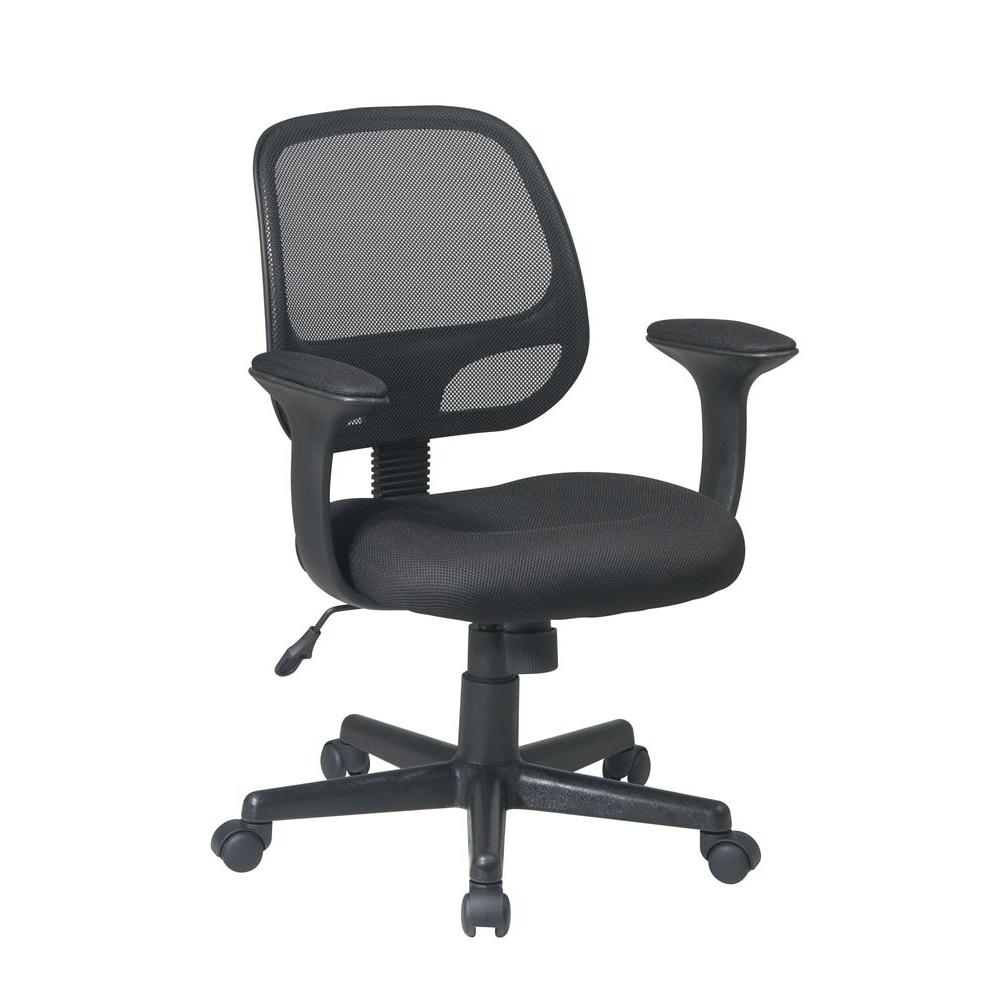 Office Star Screen Back Task Chair in Black-EM20222-3 - The Home