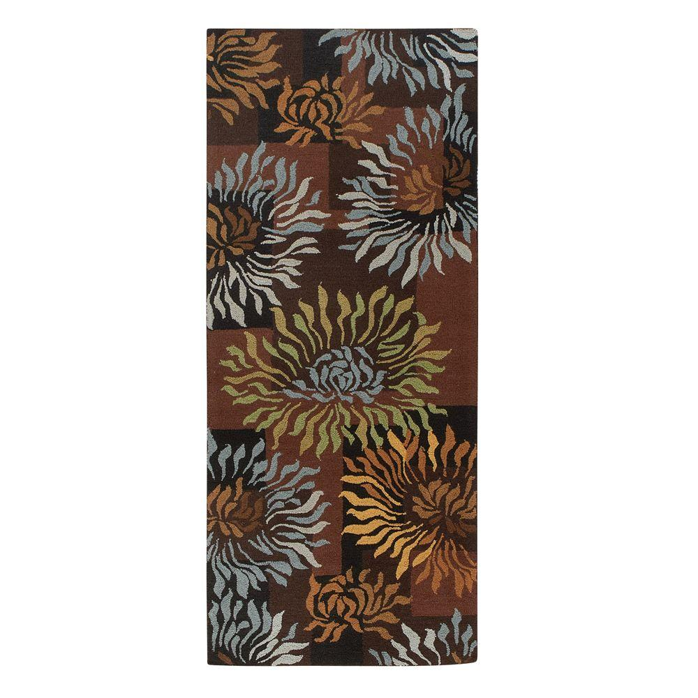 Home Decorators Collection Dazzle Black 2 ft. 6 in. x 6 ft. Rug Runner