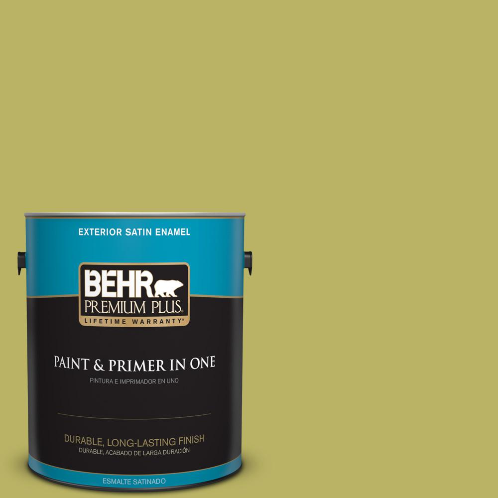 1 gal. #PPU9-06 Riesling Grape Satin Enamel Exterior Paint