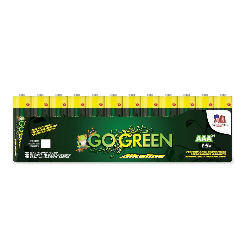 Power By Go Green AAA Alkaline Battery (24 per Pack)