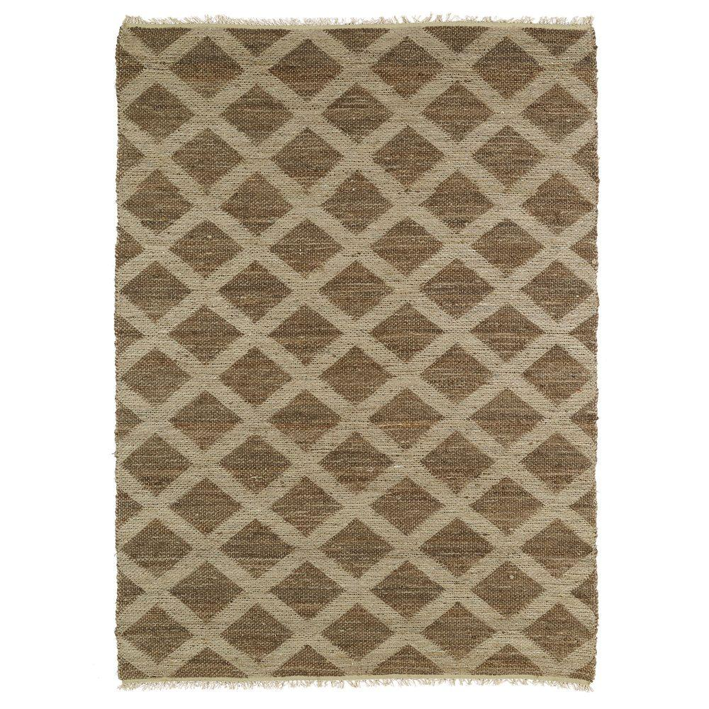 Kaleen Kenwood Chocolate 3 ft. 6 in. x 5 ft. 6 in. Double Sided Area Rug