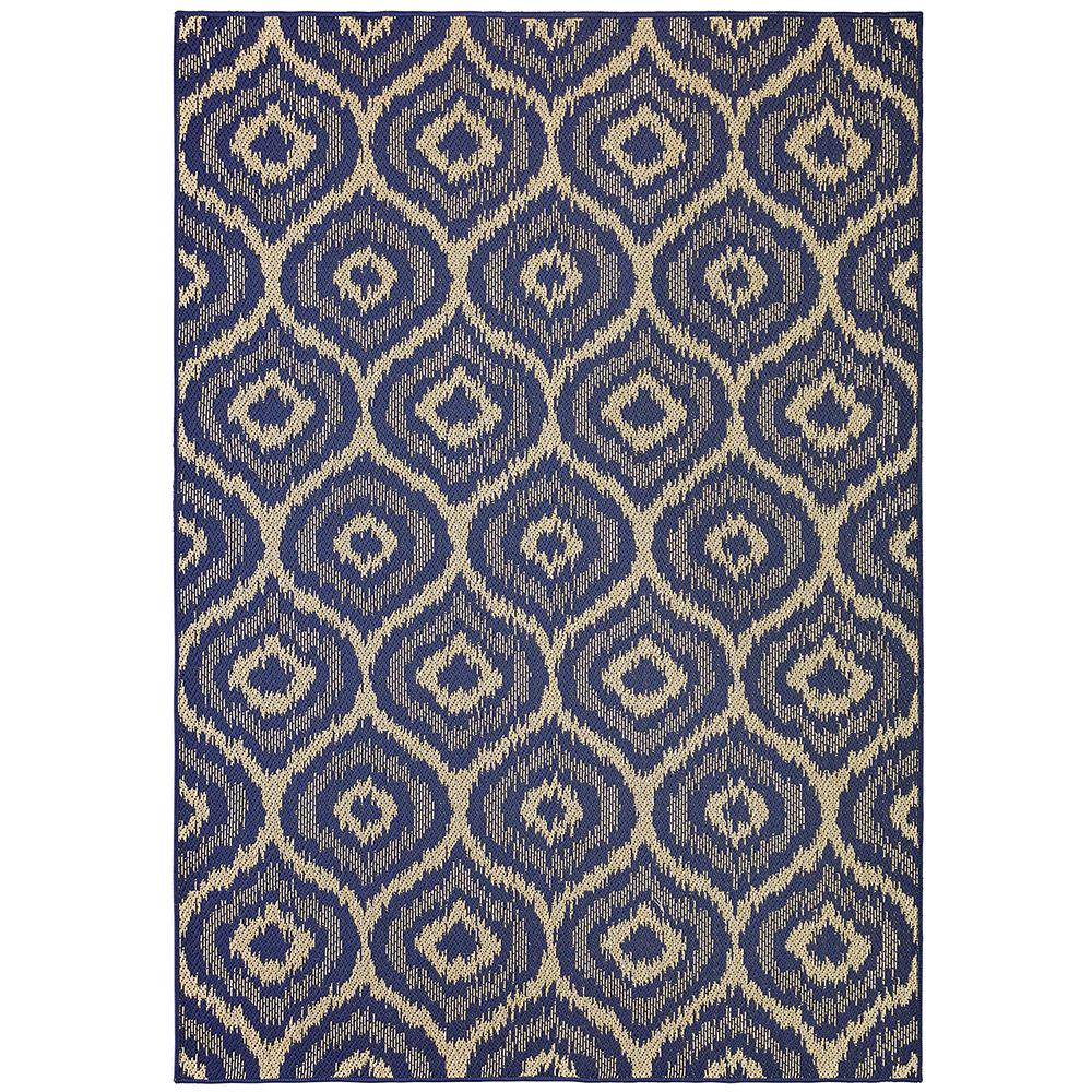 Morro Navy 8 ft. x 10 ft. Area Rug