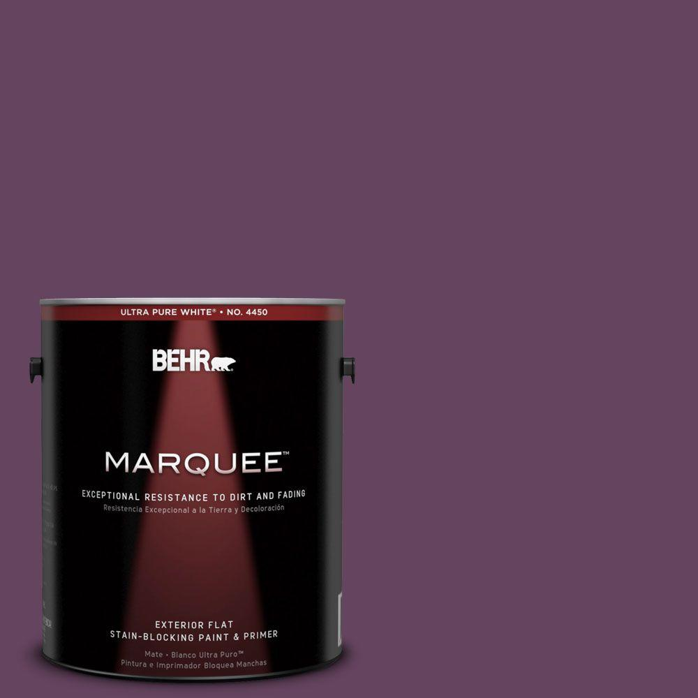 BEHR MARQUEE 1-gal. #680D-7 Bunchberry Flat Exterior Paint-445301 - The Home