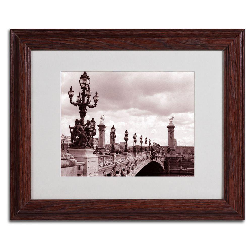 null 11 in. x 14 in. Pont Alexandre III Bridge Matted Framed Art