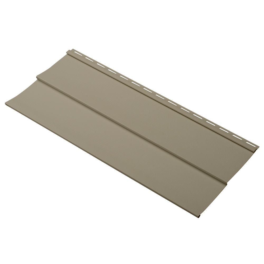 Cellwood Evolutions Double 5 in. x 24 in. Vinyl Siding Sample in Khaki