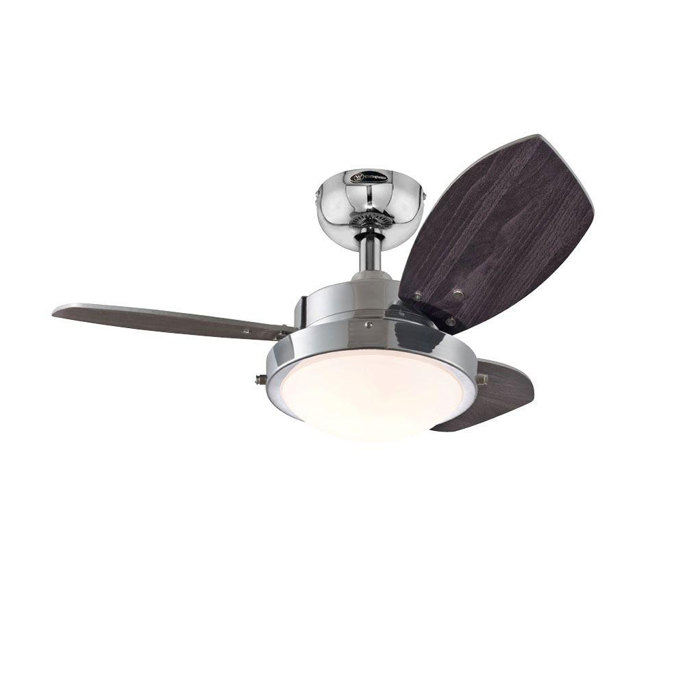 Westinghouse Wengue 30 in. Chrome Ceiling Fan-7876300 - The Home Depot:Westinghouse Wengue 30 in. Chrome Ceiling Fan,Lighting
