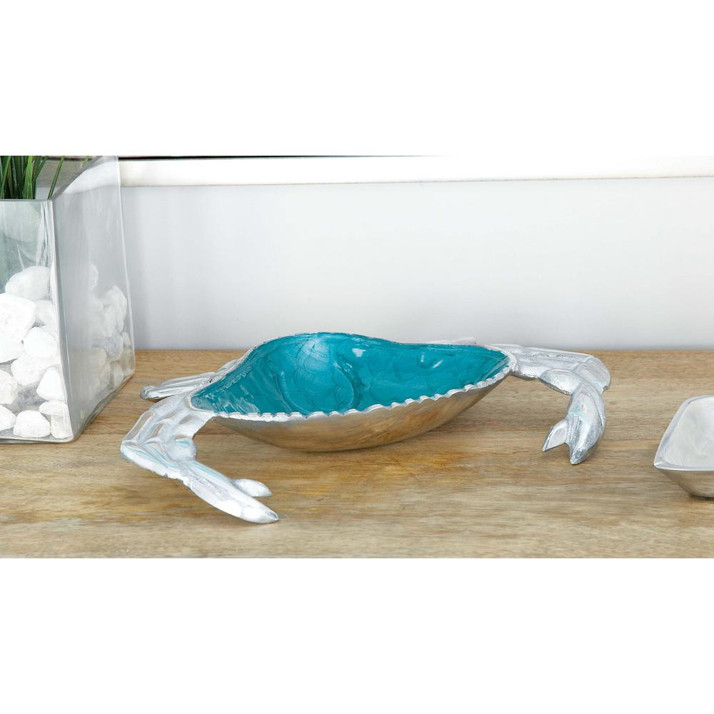 11 in. Decorative Aluminum Crab-shaped Tray (3-Pack)