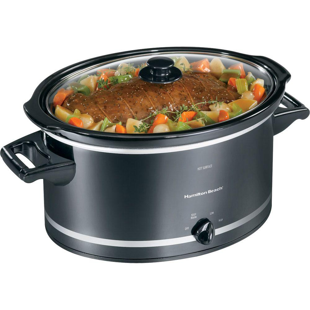 Hamilton Beach 8 qt. Slow Cooker with Lid Rest-DISCONTINUED