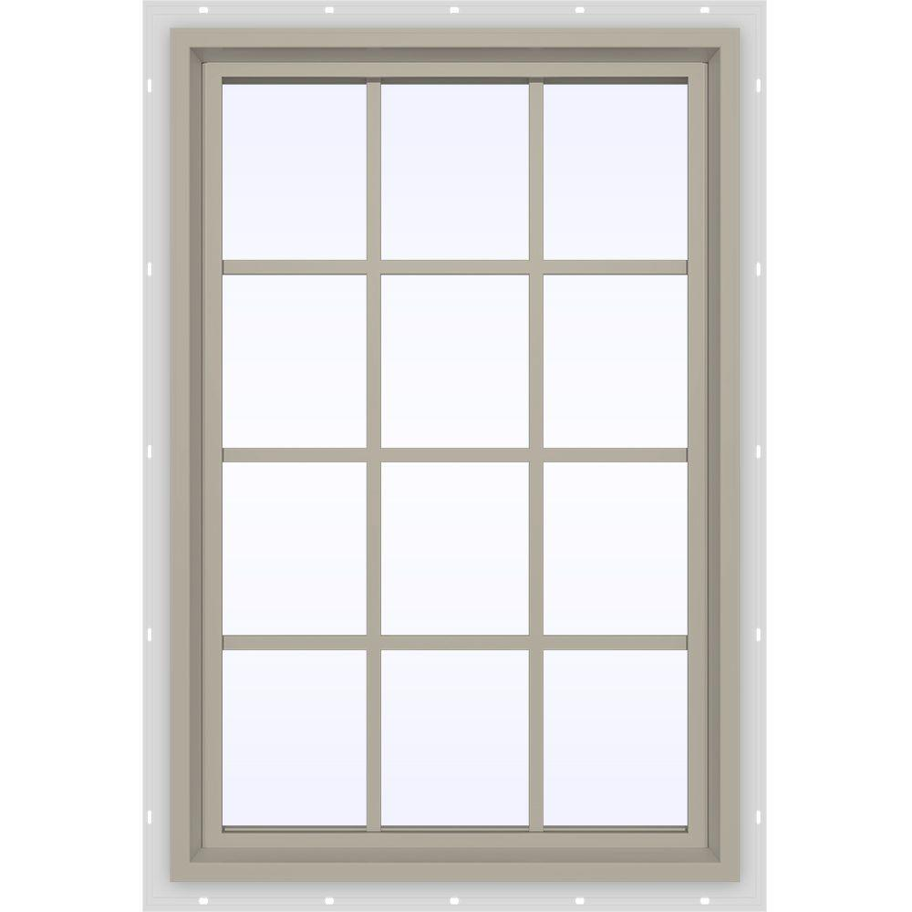 35.5 in. x 47.5 in. V-4500 Series Fixed Picture Vinyl Window