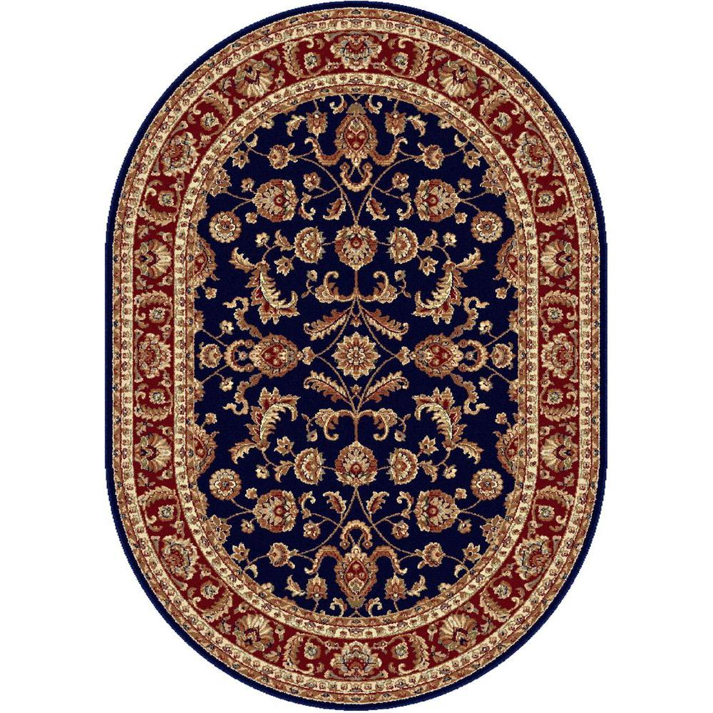 Tayse Rugs Sensation Navy Blue 6 ft. 7 in. x 9