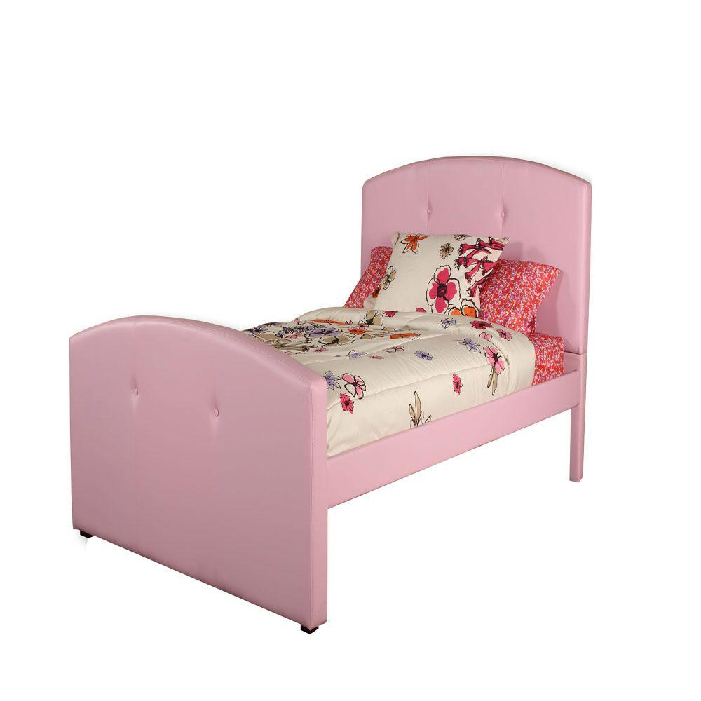 Hillsdale Furniture Laci Pink Twin-Size Bed-DISCONTINUED