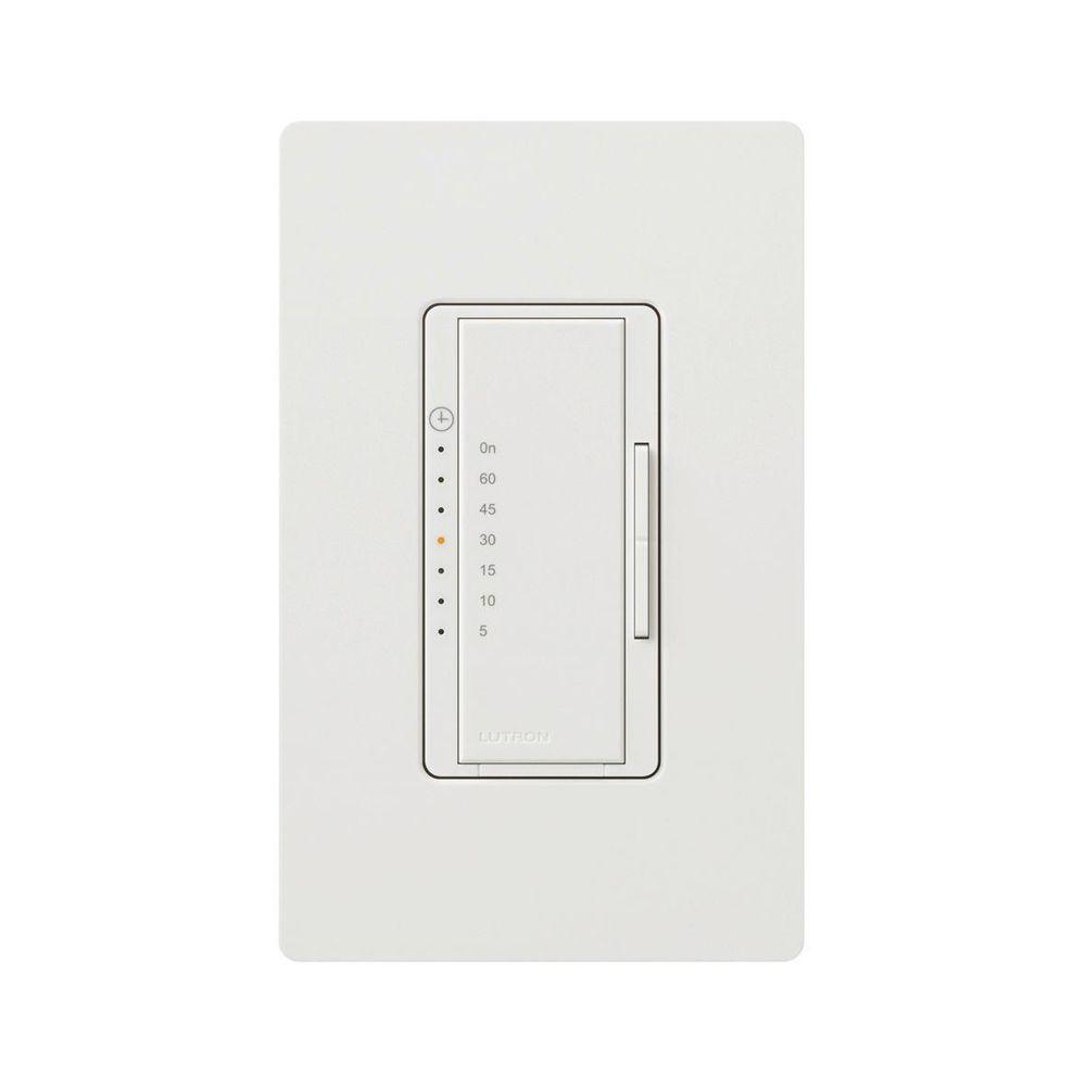 Lutron Maestro 5 Amp Countdown Digital Timer with Wall Plate - White