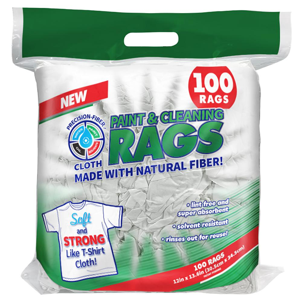 12 in. x 13.6 in. Precision-Fiber Cloth Paint and Cleaning Rags