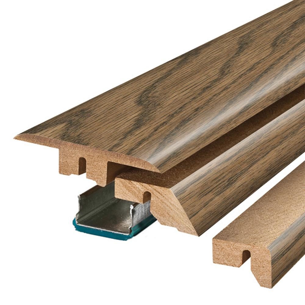Pergo Reclaimed Elm 3/4 in. Thick x 2-1/8 in. Wide x 78-3/4 in. Length Laminate 4-in-1 Molding, Light
