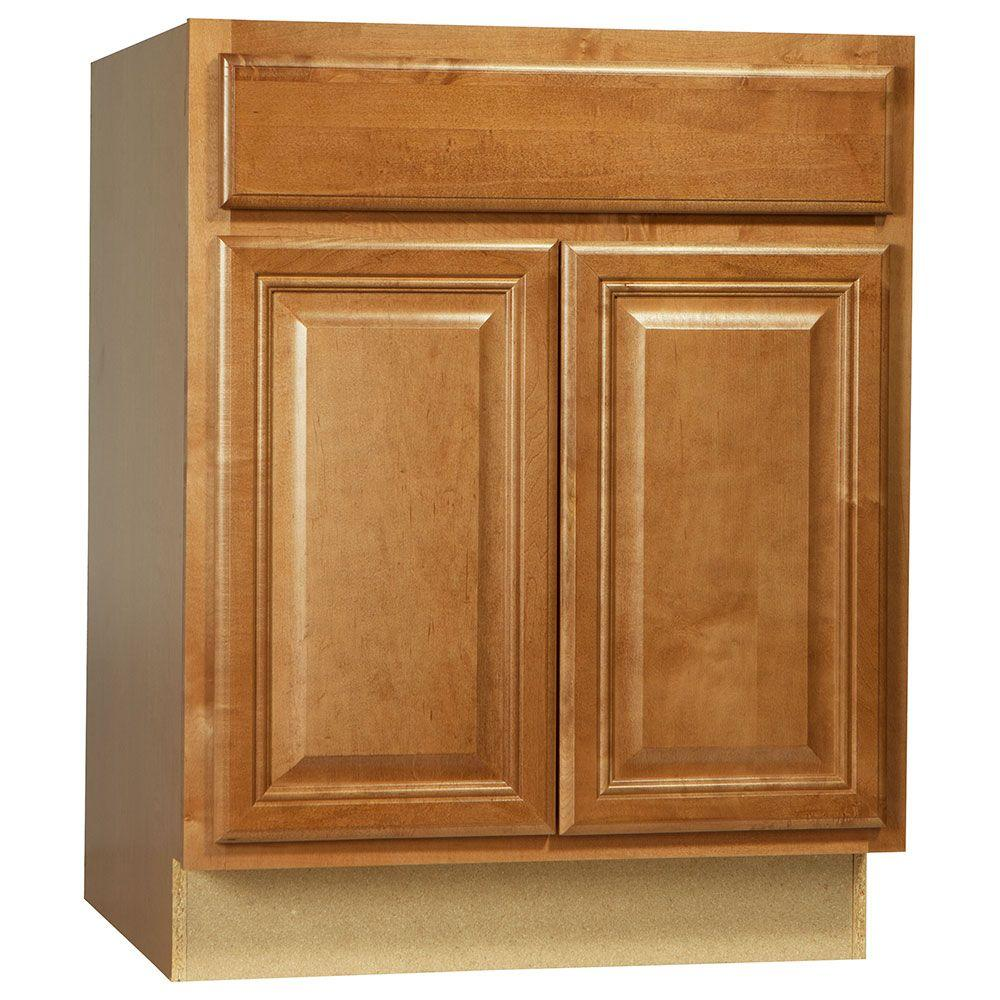 Hampton Bay Assembled 27x34.5x24 in. Cambria Base Cabinet with Ball-Bearing