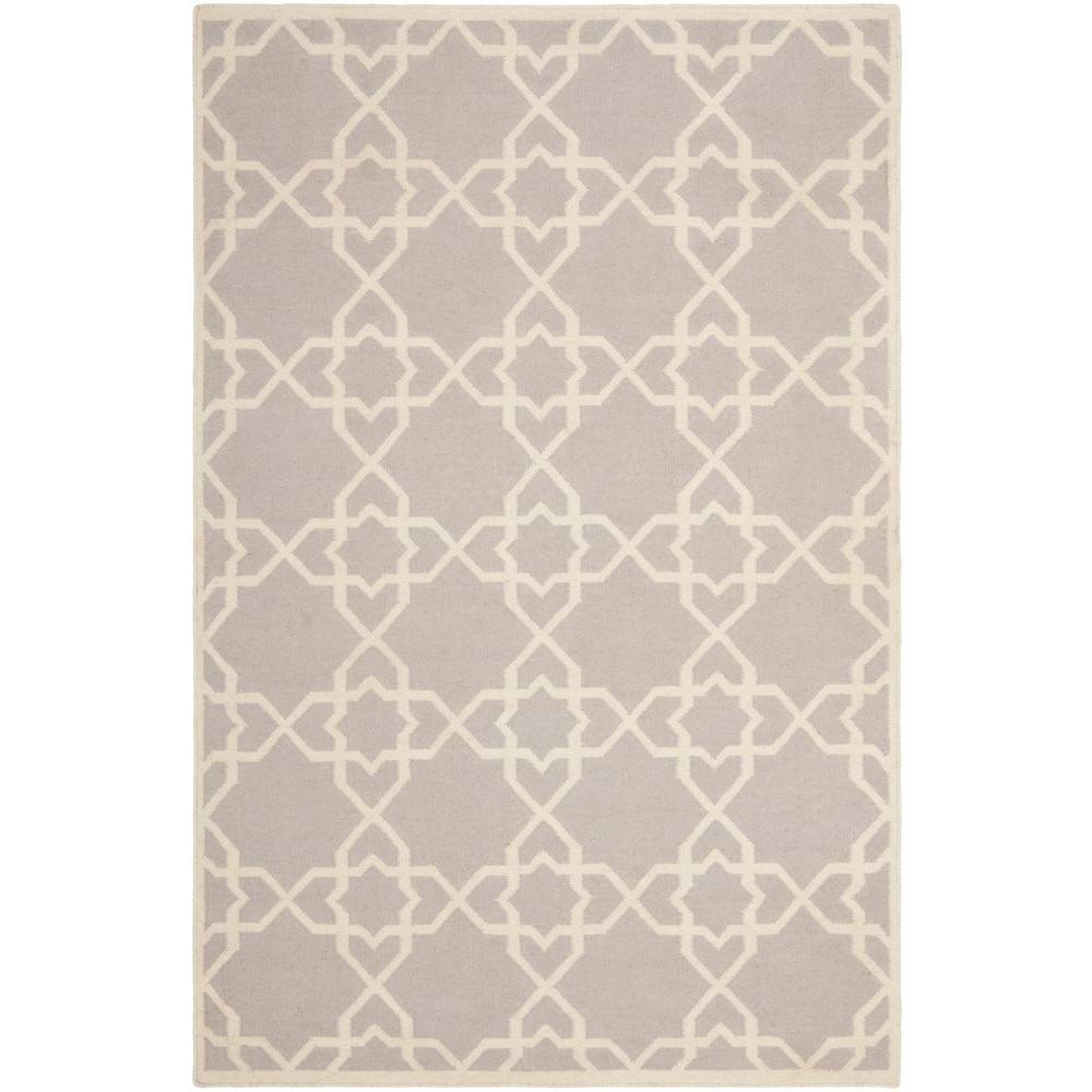 Safavieh Dhurries Grey Ivory 5 Ft X 8 Ft Area Rug