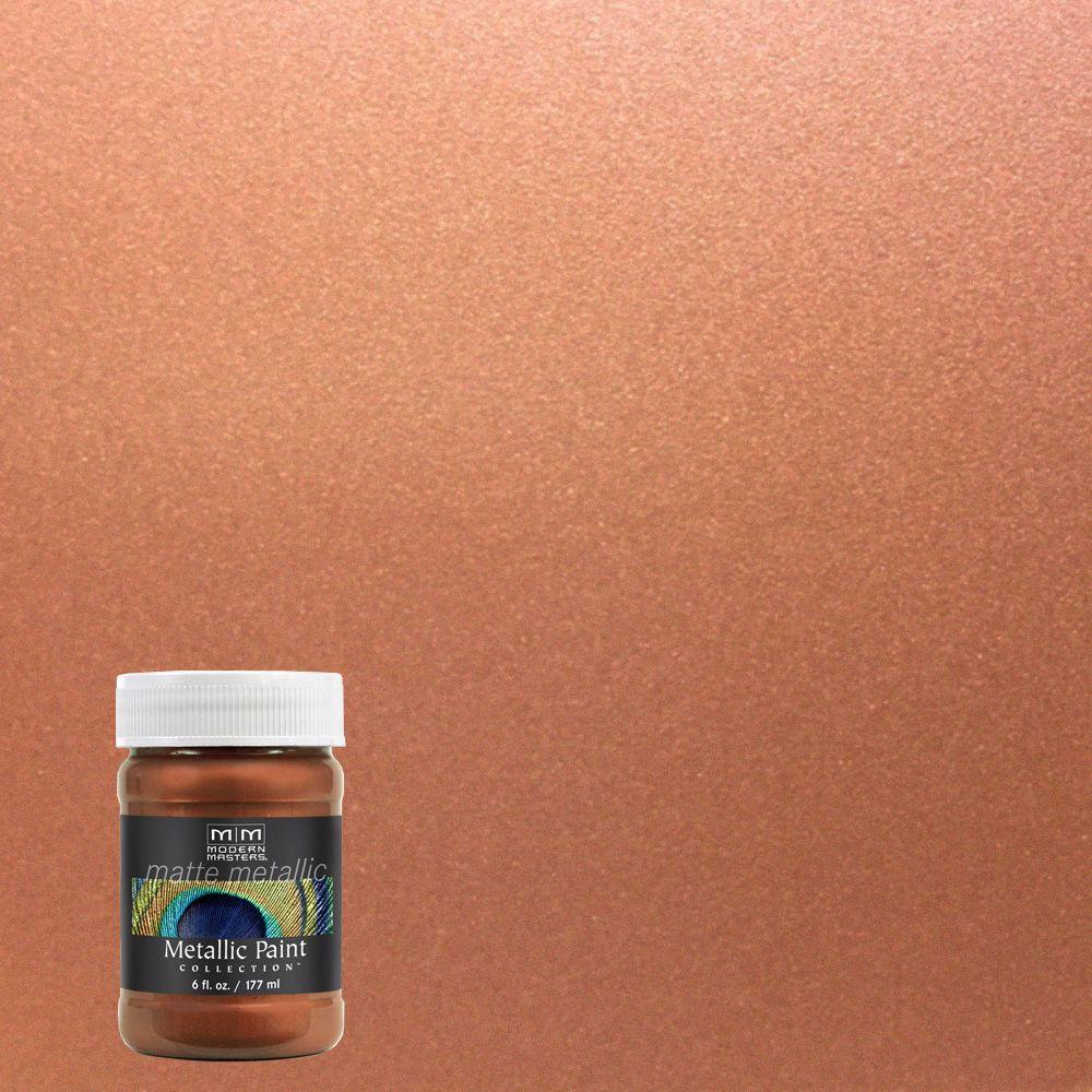 Modern Masters 6 Oz Copper Penny Matte Metallic Interior Paint Mm57906 The Home Depot