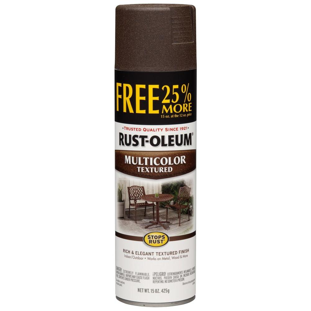 Rust Oleum Stops Rust 12 Oz Protective Enamel Multi Colored Textured Autumn Brown 25 More Free