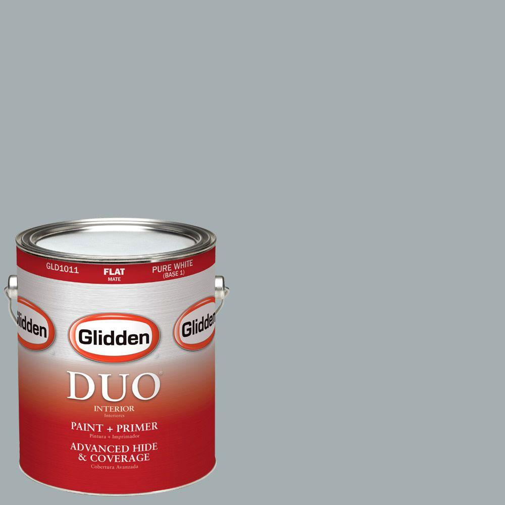 Glidden DUO 1-gal. #HDGCN27 Shaded Brook Flat Latex Interior Paint with
