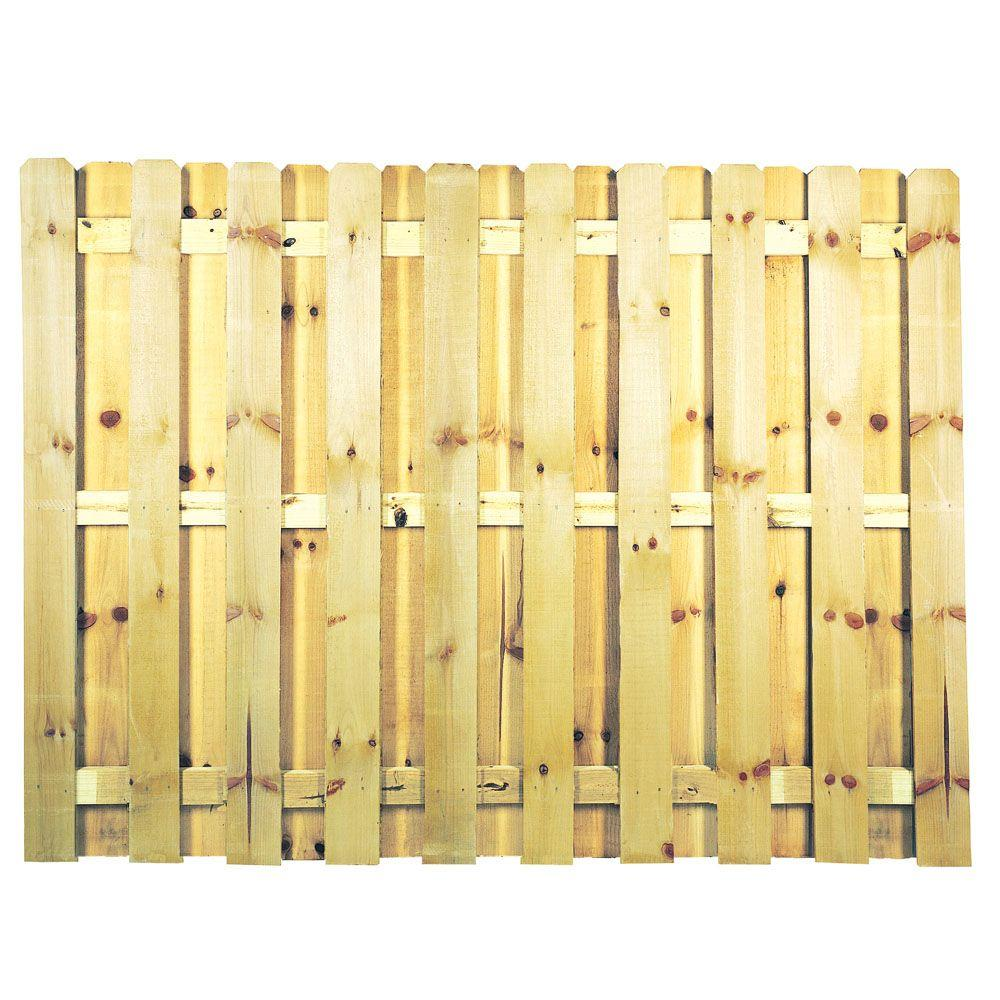 6 Ft X 8 Ft Pressure Treated Pine Shadowbox Fence Panel