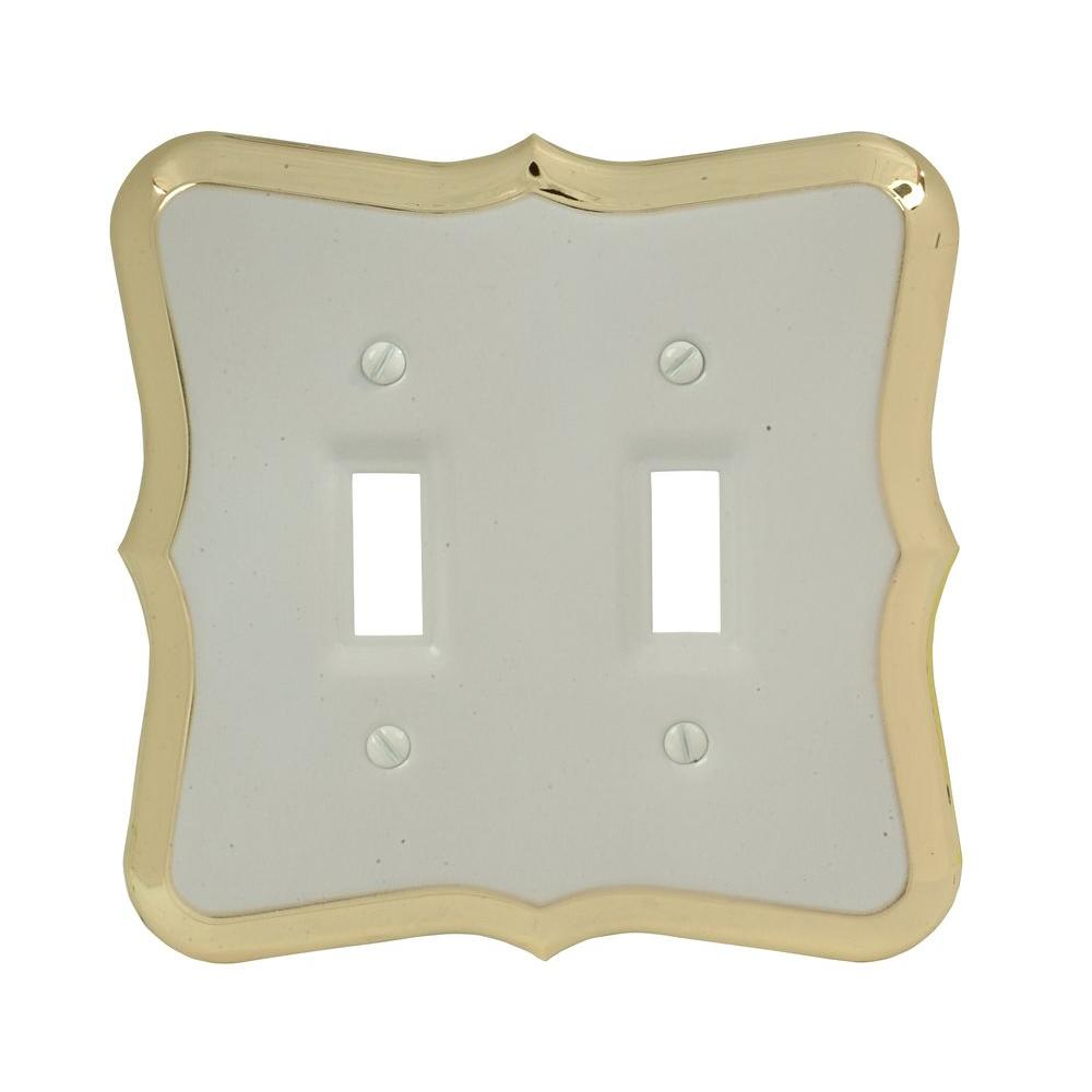 Amerelle Empire 2 Toggle Wall Plate - White-20TTW - The Home