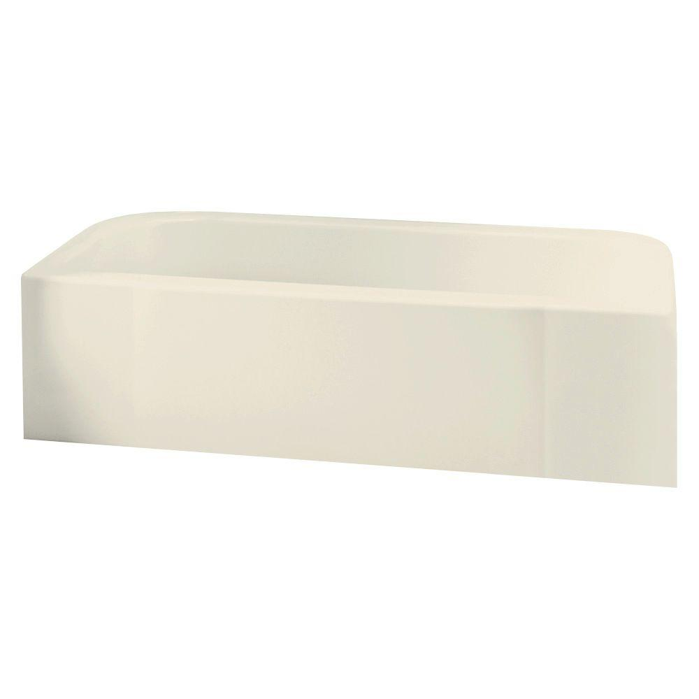 null Accord 5 ft. Left Drain Soaking Tub in Almond-DISCONTINUED