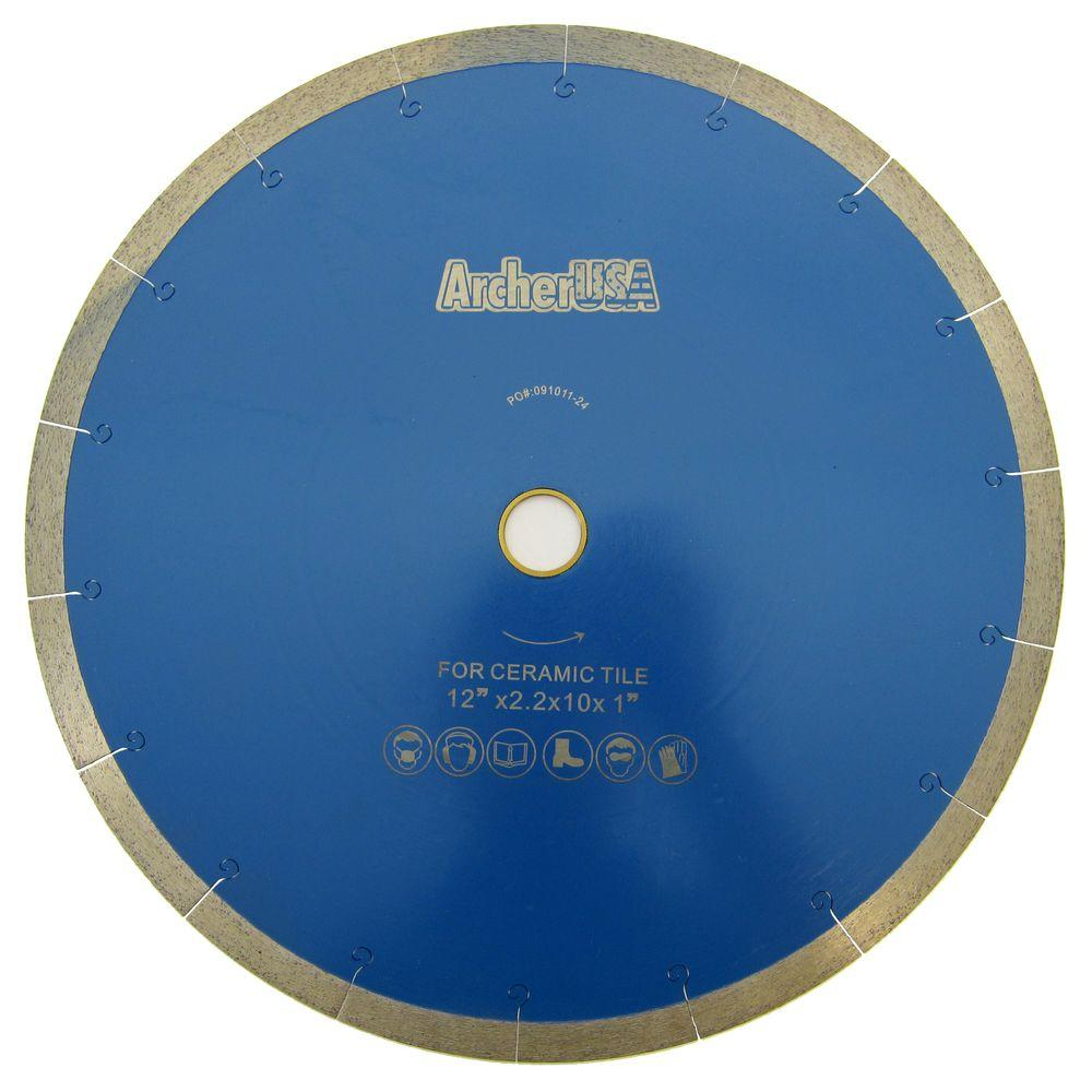 12 in. Continuous Rim Diamond Blade with J-Slot for Tile Cutting