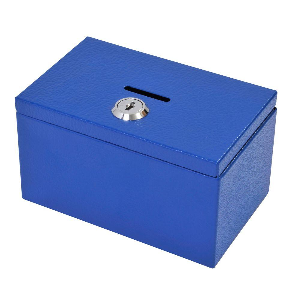 Stamp and Coin Box in Blue