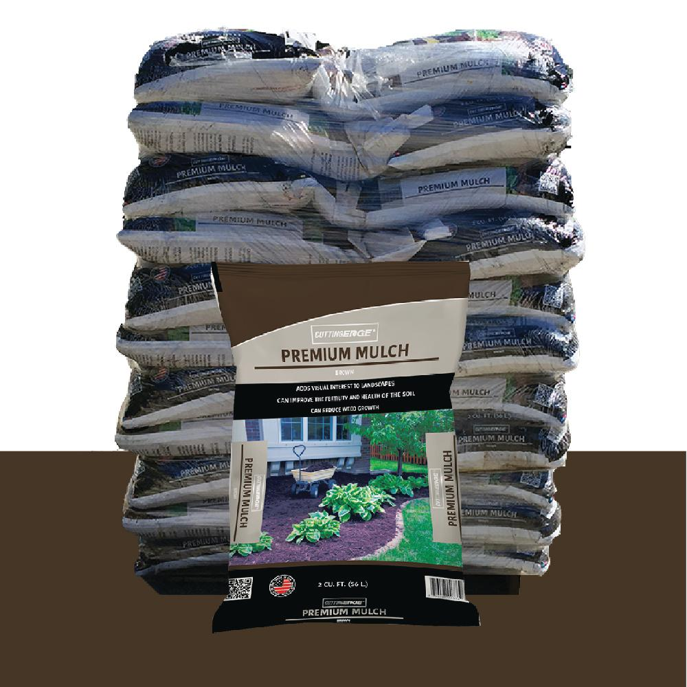 2 cu. ft. Premium Quality Brown Mulch Pallet - (55 Bags)