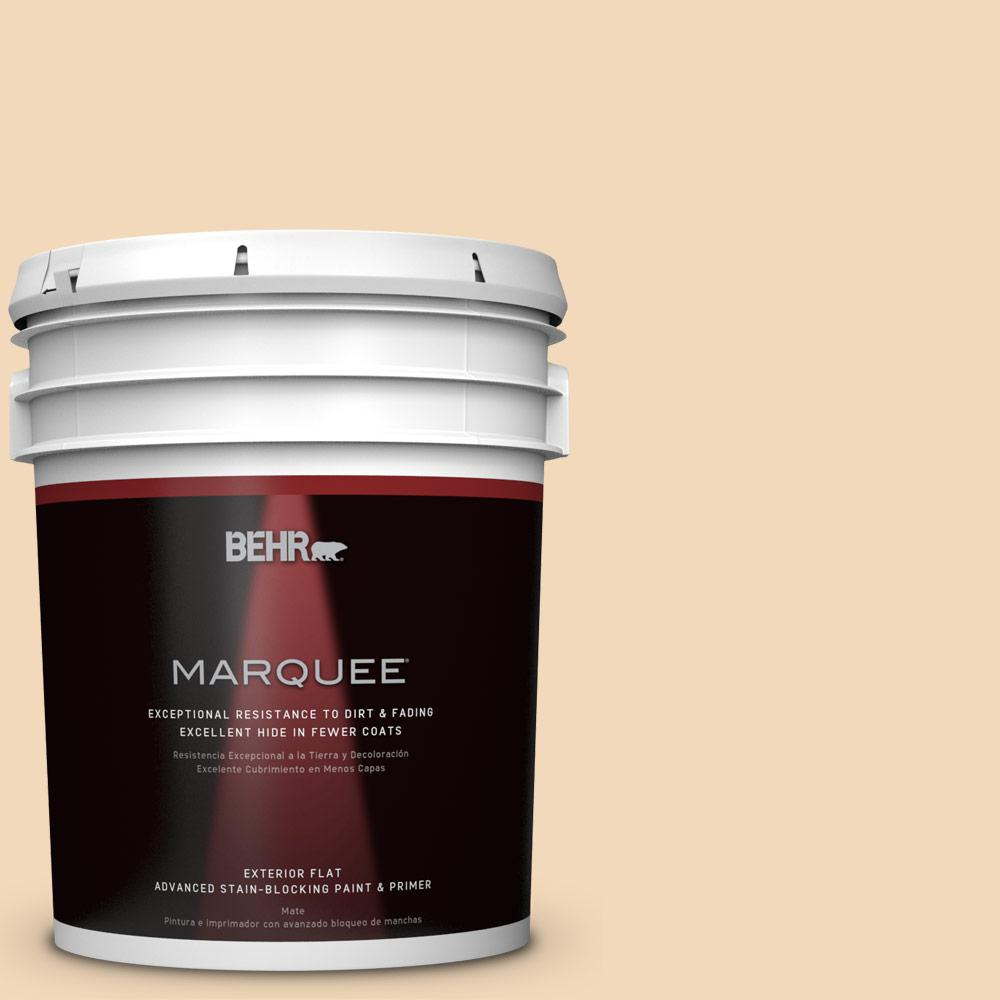 BEHR MARQUEE 5-gal. #M250-2 Golden Pastel Flat Exterior Paint-445005 - The