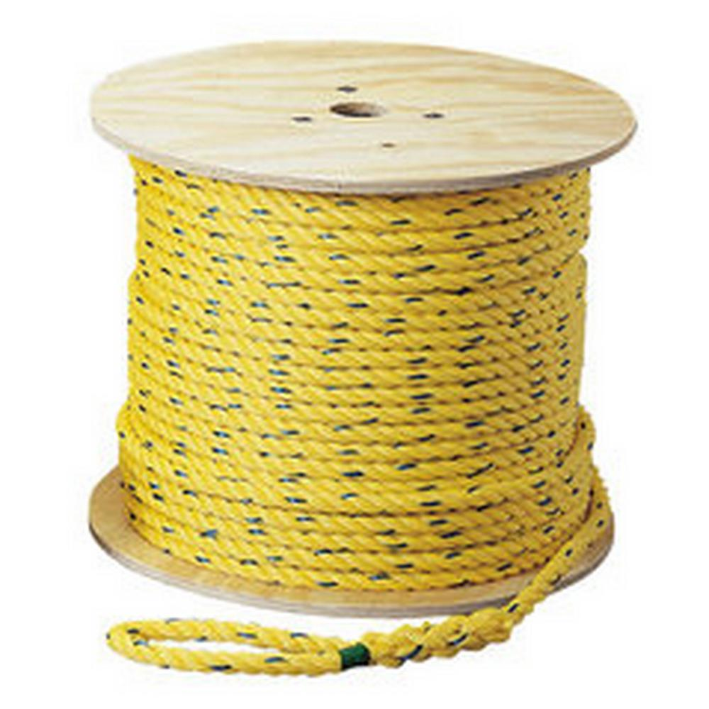 Ideal 3/8 in. x 600 ft. Pro-Pull Polypropylene Rope-31-845 - The