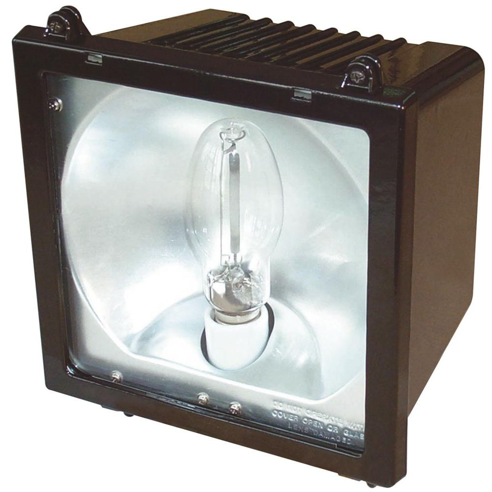 Outdoor Metal Halide Bronze Flood Light with Glass Lens