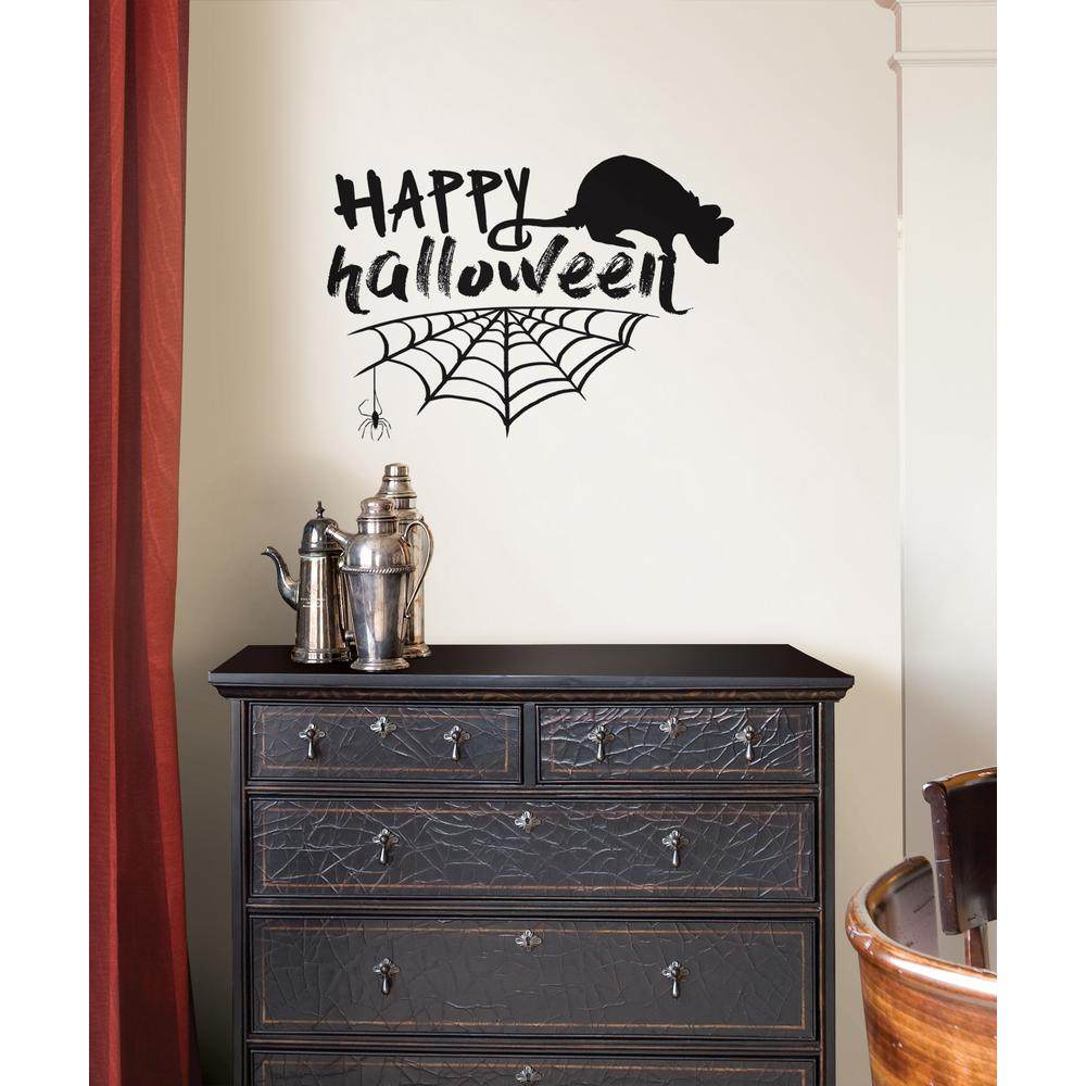 17.25 in. x 19.5 in. Happy Halloween Wall Quote