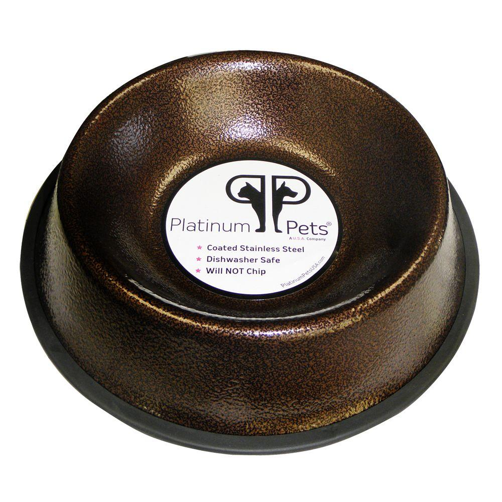 4 Cup Stainless Steel Non-Embossed Non-Tip Bowl in Copper Vein Sale $12.81 SKU: 204647748 ID: NEB32CPR UPC: 810393023551 :