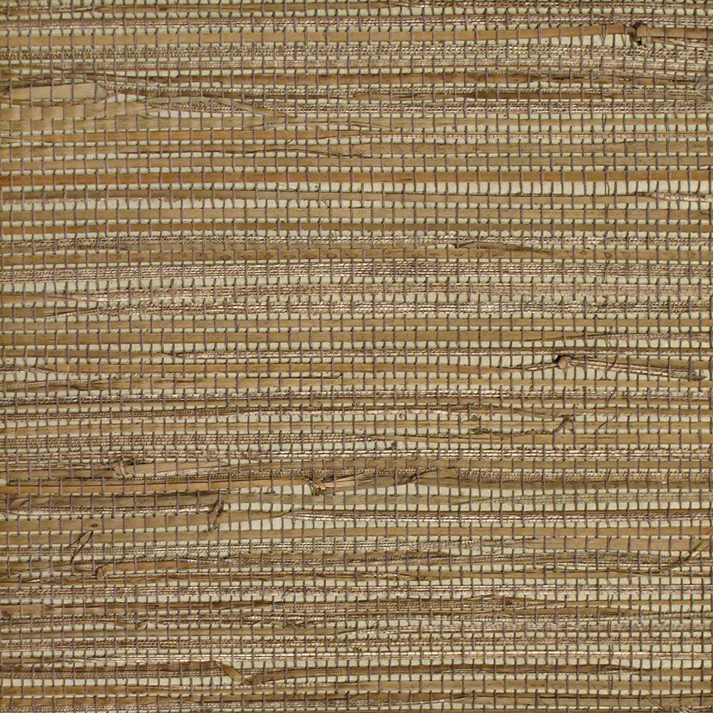 The Wallpaper Company 8 in. x 10 in. Brown Grasscloth Wallpaper Sample-DISCONTINUED