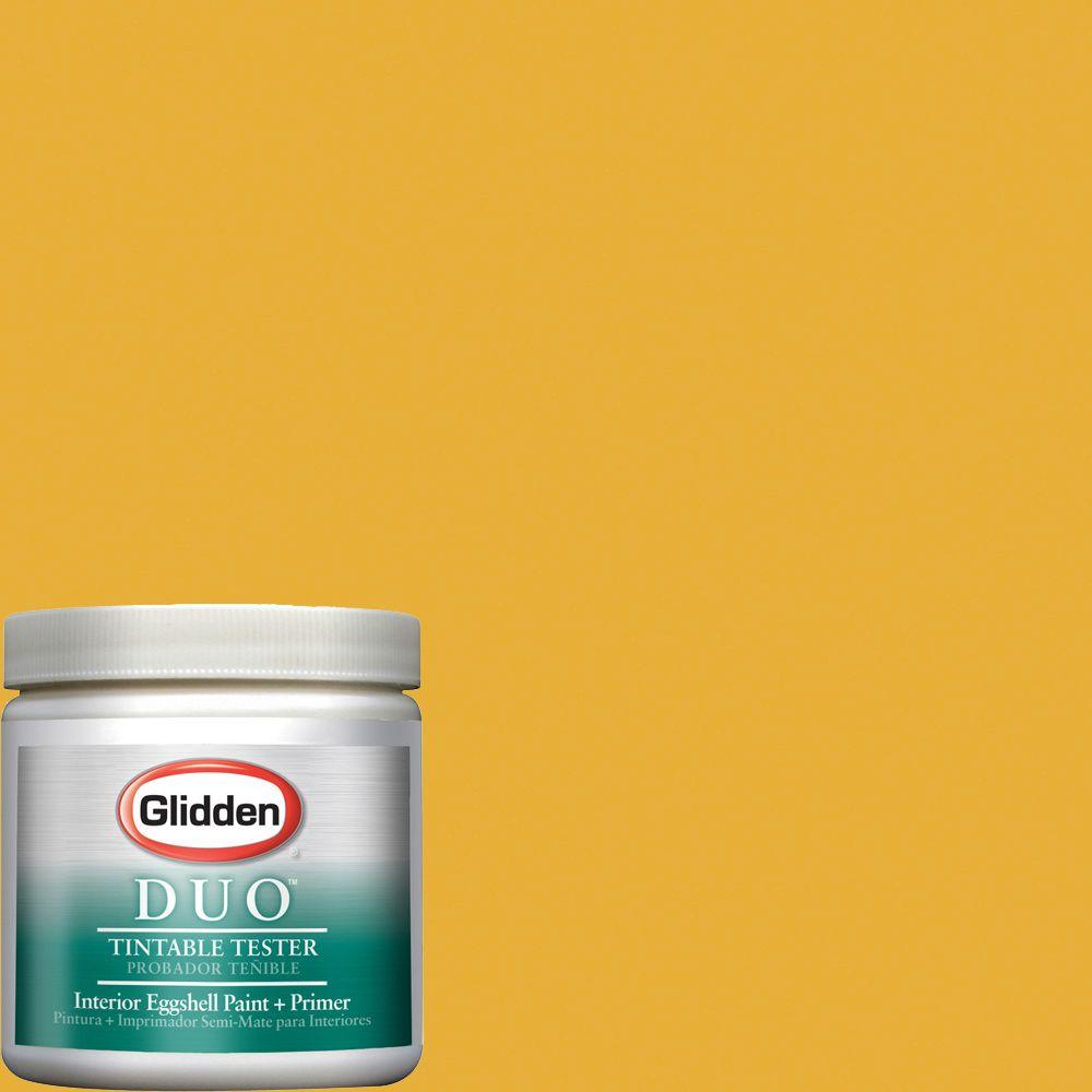 Glidden Team Colors 8-oz. #BB-001C MLB Atlanta Braves Gold Interior Paint Sample